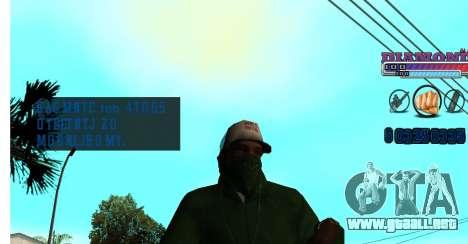 Con diamante-HUD RP para GTA San Andreas tercera pantalla
