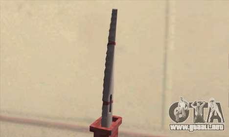 Faca Knife para GTA San Andreas tercera pantalla
