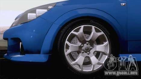 Vauxhall Astra VXR  2007 para GTA San Andreas left