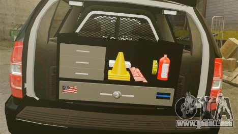 Chevrolet Tahoe 2008 Federal Signal Valor [ELS] para GTA 4 vista interior