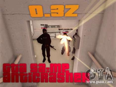 Anti choque para GTA SA: MP [0,3 z] [v1] para GTA San Andreas