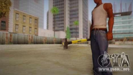Sledge Hammer para GTA San Andreas sucesivamente de pantalla