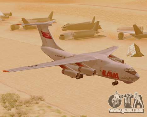 Il-76td IlAvia para GTA San Andreas left