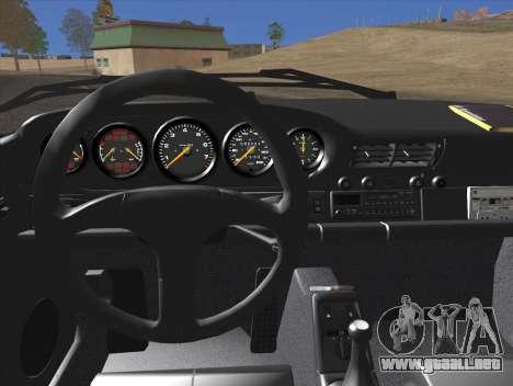 Porsche 911 Speedster Carrera 2 1992 para la vista superior GTA San Andreas