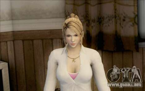 Sarah de Dead or Alive 5 para GTA San Andreas segunda pantalla