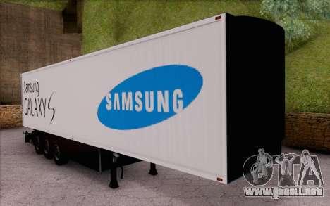 Samsung Galaxy S Trailer para GTA San Andreas left