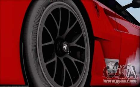 Ferrari 599XX Evolution para GTA San Andreas vista posterior izquierda