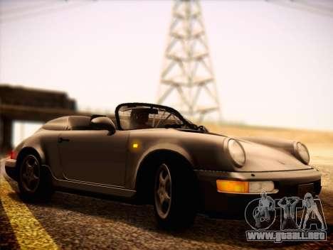 Porsche 911 Speedster Carrera 2 1992 para GTA San Andreas vista posterior izquierda