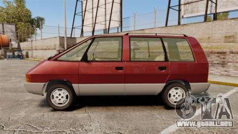Renault Espace I 2000 TSE para GTA 4 left