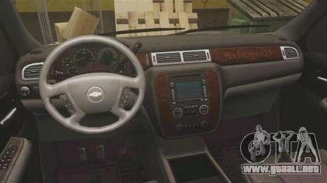Chevrolet Suburban Slicktop 2008 [ELS] para GTA 4 vista hacia atrás