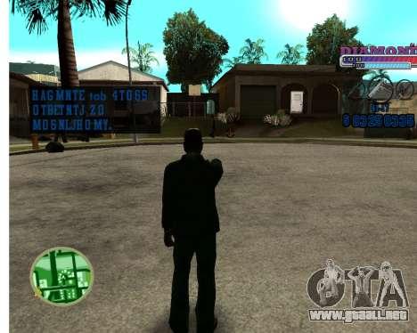 Con diamante-HUD RP para GTA San Andreas segunda pantalla