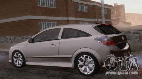 Vauxhall Astra VXR  2007 para vista lateral GTA San Andreas