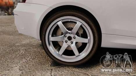 BMW 1M 2014 para GTA 4 vista hacia atrás