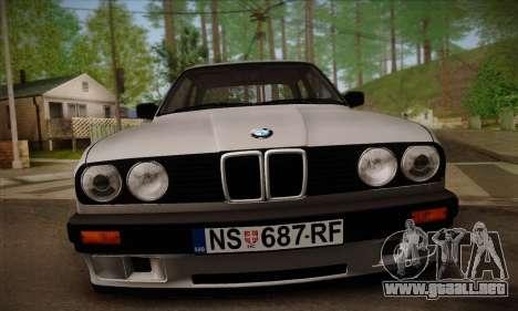 BMW M3 E30 para vista inferior GTA San Andreas