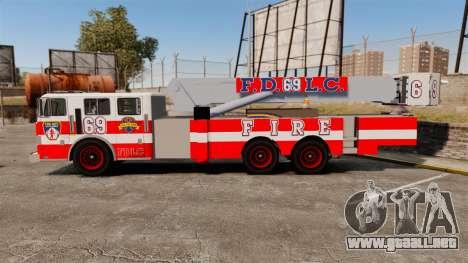 MTL Firetruck Tower Ladder FDLC [ELS-EPM] para GTA 4 left