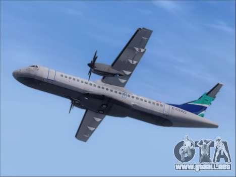 ATR 72-500 WestJet Airlines para GTA San Andreas vista hacia atrás