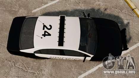 GTA V Vapid Steelport Police Interceptor [ELS] para GTA 4 visión correcta