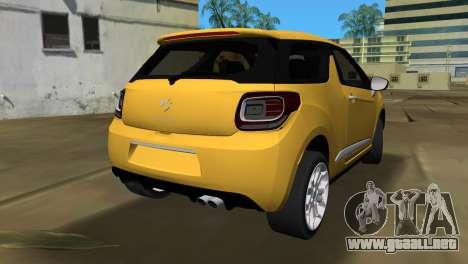 Citröen DS3 2011 para GTA Vice City vista lateral izquierdo