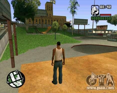 Nuevo HD Skate Park para GTA San Andreas novena de pantalla