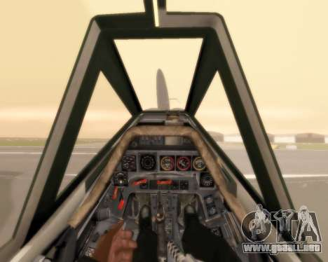 Focke-Wulf FW-190 F-8 para la vista superior GTA San Andreas