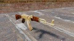 AK-47 de oro plateado