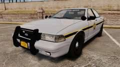 GTA V Vapid Police Cruiser Scheriff [ELS] para GTA 4