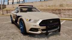 Ford Mustang GT 2015 Cheng Guan Police para GTA 4