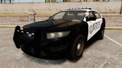 GTA V Vapid Steelport Police Interceptor [ELS] para GTA 4