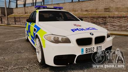 BMW M5 Greater Manchester Police [ELS] para GTA 4