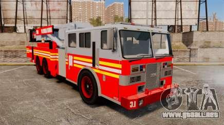 MTL Torre de la Escalera del camión de bomberos [ELS-EPM] (Bomberos) para GTA 4