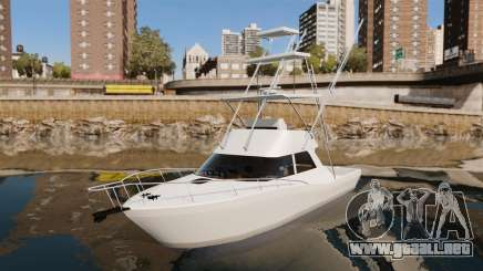 Sport fishing yacht para GTA 4