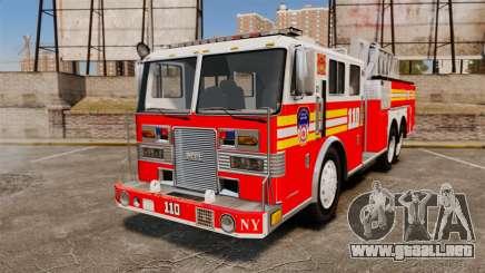 MTL Firetruck MDH1000 Midmount Ladder FDNY [ELS] para GTA 4