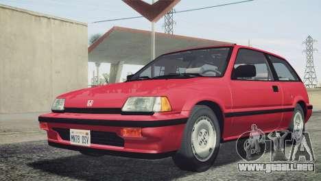 Honda Civic Si 1986 HQLM para GTA San Andreas vista hacia atrás