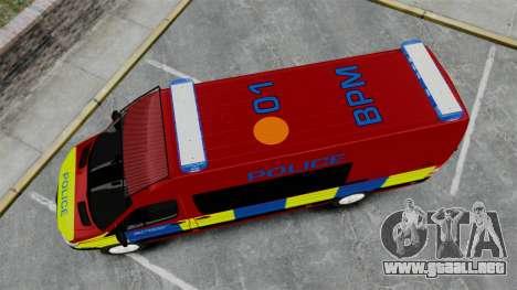 Mercedes-Benz Sprinter 313 CDI Police [ELS] para GTA 4 visión correcta