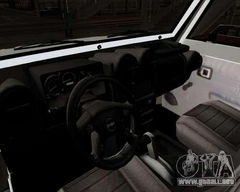 Toyota Land Cruiser Machito 2009 LX para GTA San Andreas vista hacia atrás