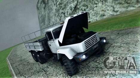 Kraz 6322 para la vista superior GTA San Andreas
