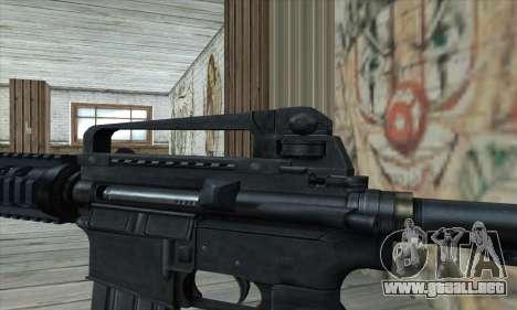 M4 RIS Carbine para GTA San Andreas tercera pantalla