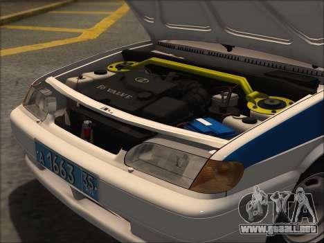 VAZ 2114 Policía DPS para GTA San Andreas vista posterior izquierda
