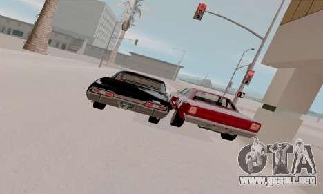 Plymouth Road Runner 383 1969 para vista inferior GTA San Andreas