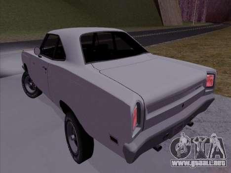 Plymouth Road Runner 383 1969 para GTA San Andreas left