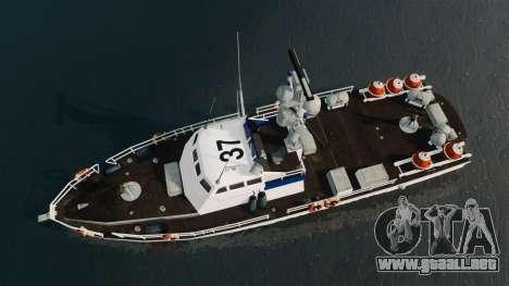 Канонерская barco U.S. Coastguard para GTA 4 visión correcta