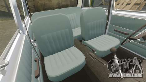 VAZ-Lada 2101 URSS para GTA 4 vista desde abajo