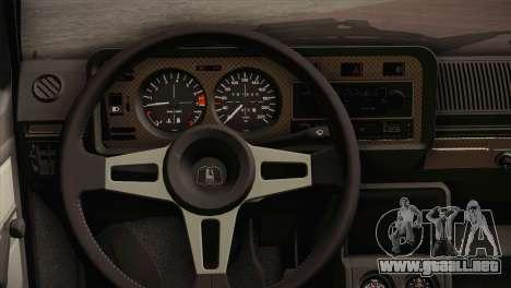 Volkswagen Golf MK1 Red Vintage para GTA San Andreas vista hacia atrás