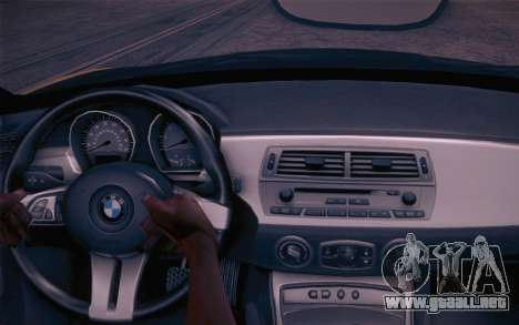 BMW Z4 V10 Stanced para GTA San Andreas vista hacia atrás