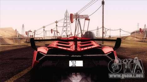 Lamborghini Veneno Roadster LP750-4 2014 para la visión correcta GTA San Andreas