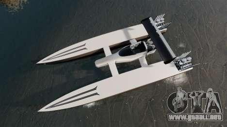 Dragboat Twin V8 para GTA 4 visión correcta