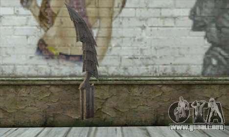 Cuchillo para GTA San Andreas segunda pantalla