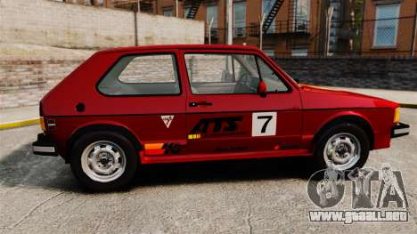 Volkswagen Rabbit GTI 1984 para GTA 4 left