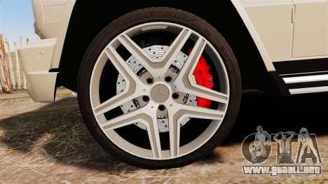 Mercedes-Benz G65 (W463) 2012 AMG para GTA 4 vista hacia atrás