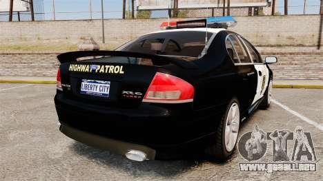 Ford BF Falcon XR6 Turbo LCHP [ELS] para GTA 4 Vista posterior izquierda